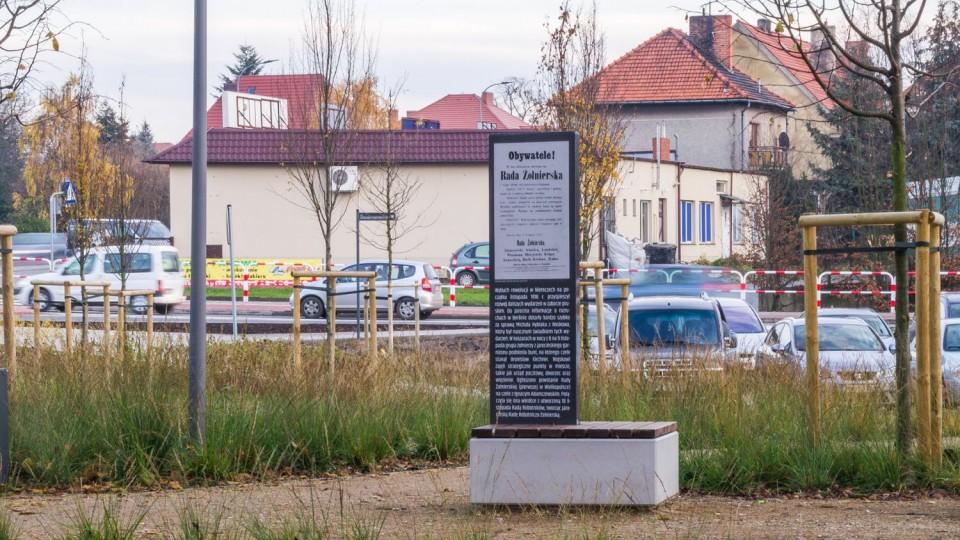 Jarocin, park – tablica informacyjna