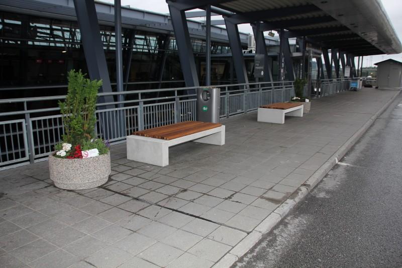 Norwegia, Trondheim lotnisko – ławy