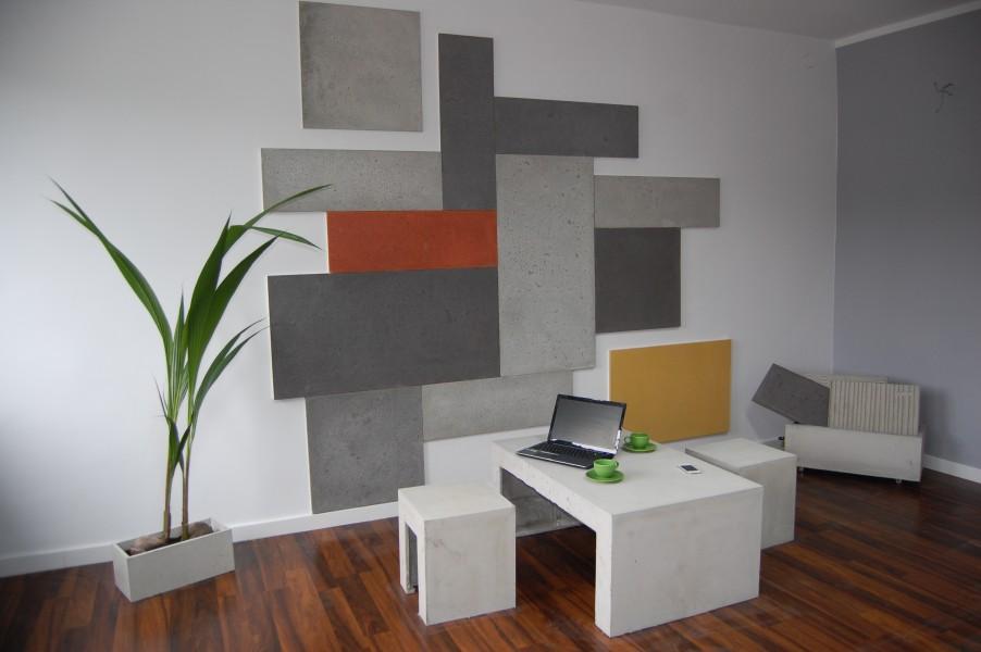 Concrete Made, biuro – meble betonowe, płyty betonowe